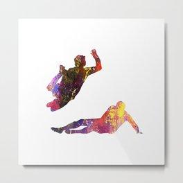 Mens Football Slide Tackling Quote Art Design Insp Metal Print