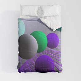 converging lines and balls -3- Comforters