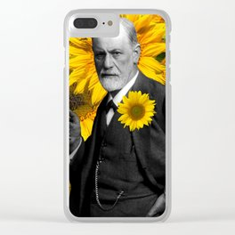 Freud n Sunflowers Clear iPhone Case