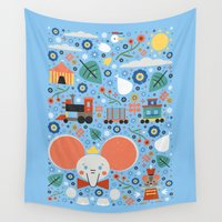 dumbo Wall Tapestries featuring Dumbo by Carly Watts