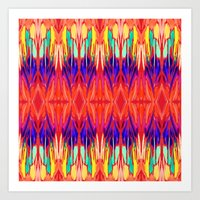 carnival Art Prints featuring Carnival by Holly Sharpe