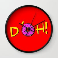 simpsons Wall Clocks featuring The Simpsons: D´oh! by dutyfreak