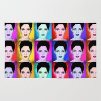 emma watson Area & Throw Rugs featuring Emma Watson by Joe Hilditch