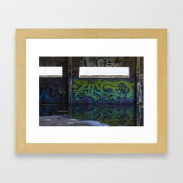 graffiti reflection Framed Art Print