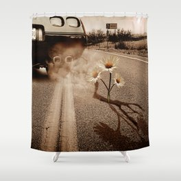 Exhausting Pipe Flowers Shower Curtain