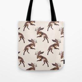 Brown Jackalope Tote Bag