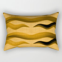 """Abstract Oriental Tiger"" Rectangular Pillow"