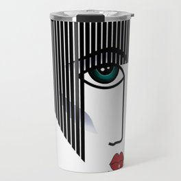 Woman's Profile Travel Mug