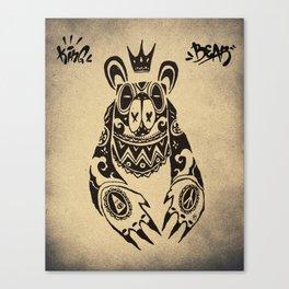 King Bear Bandit Canvas Print