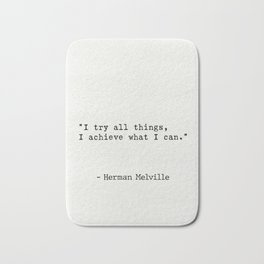 Herman Melville quote 3 Bath Mat