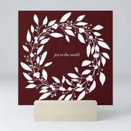 Christmas Wreath with Berries II Mini Art Print