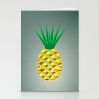pineapple Stationery Cards featuring Pineapple by mailboxdisco