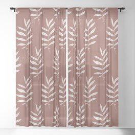 Abstract Leave Pattern Sheer Curtain