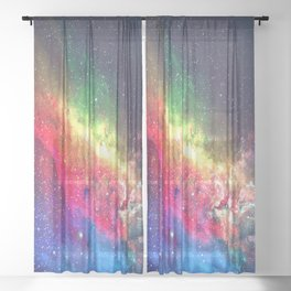 Space Nebula - Interstellar Dust Sheer Curtain