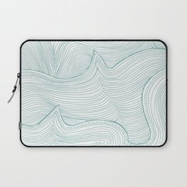seafoam wave pattern Laptop Sleeve