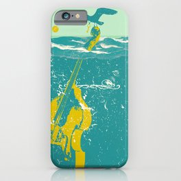 SINKING CELLO (blue) iPhone Case
