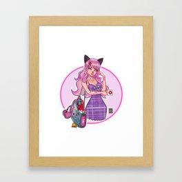 Otaku Girl Framed Art Print