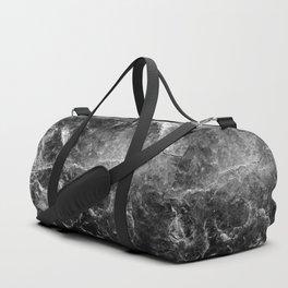 Enigmatic Black Marble #1 #decor #art #society6 Duffle Bag