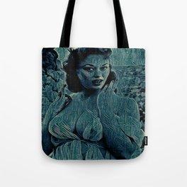 Digital Curving Tote Bag