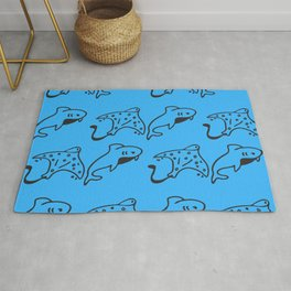 Summer - Longtail Stingray And Dolphin Rug