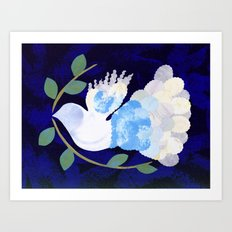 Peace Spirit Dove Art Print
