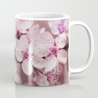 cherry blossom Mugs featuring Cherry Blossom by LebensART Photography