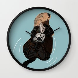 California Sea otter Wall Clock