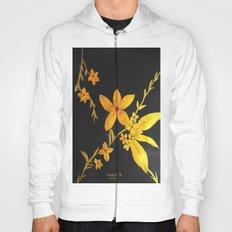 Golden flowers  Hoody