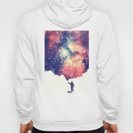 Painting the universe (Colorful Negative Space Art) Hoody
