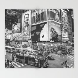 Times Square II Special Edition III BW Throw Blanket