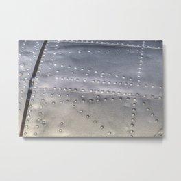 Aluminium Aircraft Skin Texture Metal Print
