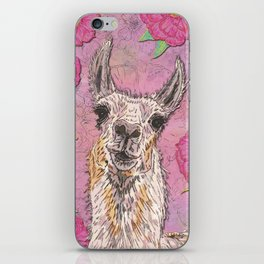 Perfectly Pink Llama iPhone Skin