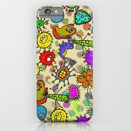 Doodle Germs iPhone Case