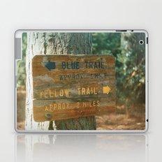 Blue Trail, Yellow Trail Laptop & iPad Skin