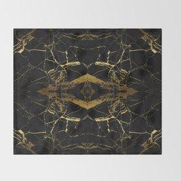 Black & Gold Throw Blanket