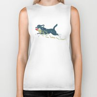 french fries Biker Tanks featuring Chihuahua & French Fries by Kaori S