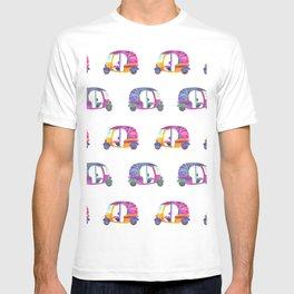 Funky rickshaws pattern T-shirt