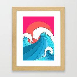 The 3 big waves Framed Art Print