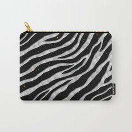 Ripped SpaceTime Stripes - White Carry-All Pouch