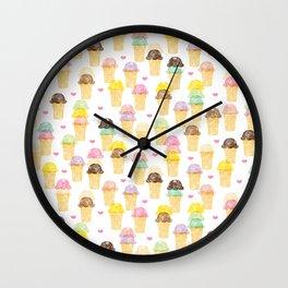 Scoop du Jour Wall Clock