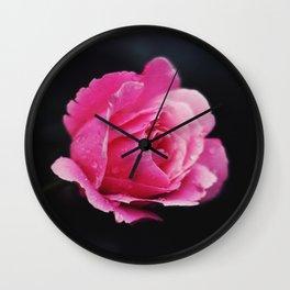 I hate roses Wall Clock