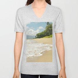 maui beach Unisex V-Neck