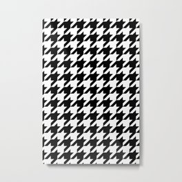Classic Houndstooth Pattern Metal Print