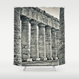 Temple of Segesta Shower Curtain