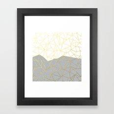 Ab Half and Half Grey Framed Art Print