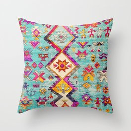 N178 - Antique Oriental Traditional Berber Bohemian Moroccan Style  Throw Pillow