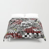 50s Duvet Covers featuring 50s rock n roll by Mickaela Correia