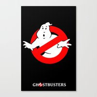 ghostbusters Canvas Prints featuring Ghostbusters by IIIIHiveIIII