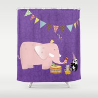 band Shower Curtains featuring Music Band by Roberta Jean Pharelli