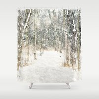 Winter Woods Shower Curtain